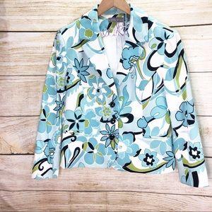 Kate Hill Plus Size Floral Blazer